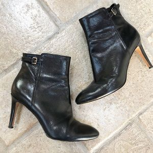 Nine West Black Leather Ankle Booties 7